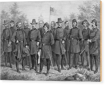 Union Generals Of The Civil War  Wood Print by War Is Hell Store