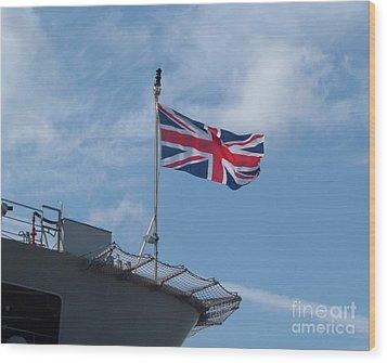 Union Jack Wood Print by Richard Brookes