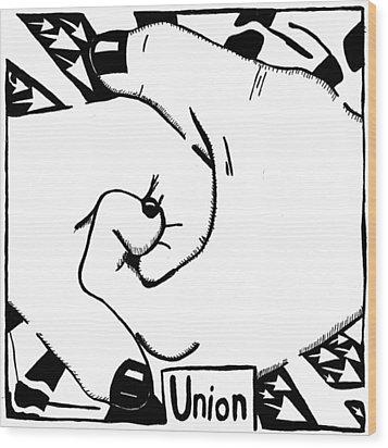 Union Maze Wood Print by Yonatan Frimer Maze Artist