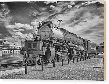 Wood Print featuring the photograph Union Pacific 4-8-8-4 Big Boy by Paul W Faust - Impressions of Light