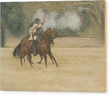 Union Riders Wood Print by Linda Eades Blackburn