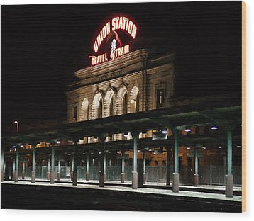 Union Station Denver Colorado Wood Print by Ken Smith