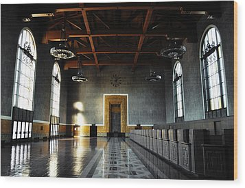 Wood Print featuring the photograph Union Station Los Angeles by Kyle Hanson