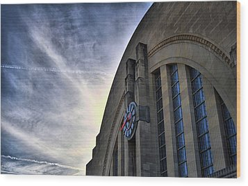 Union Terminal Wood Print by Russell Todd