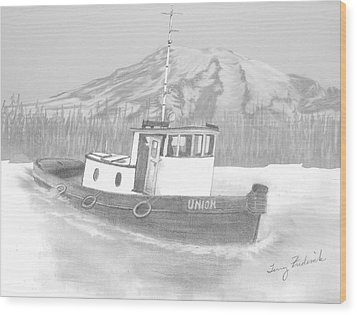 Tugboat Union Wood Print by Terry Frederick