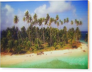 Unique Symbolic Island Art Photography Icon Zanzibar Sands Beaches Tourist Destination. Wood Print