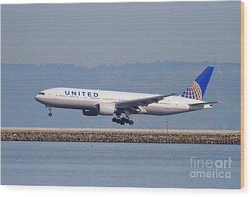 United Airlines Jet Airplane . 7d11794 Wood Print by Wingsdomain Art and Photography