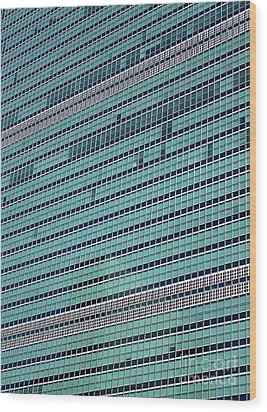 Wood Print featuring the photograph United Nations 2 by Randall Weidner