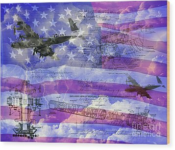 United States Armed Forces One Wood Print