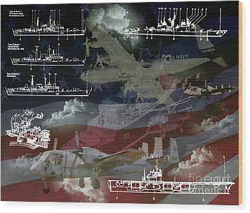 Wood Print featuring the photograph United States Armed Forces Two by Ken Frischkorn