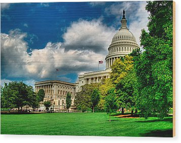 United States Capital House Side Wood Print