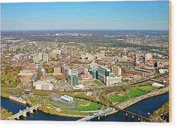 Wood Print featuring the photograph University City Philadelphia Pennsylvania by Duncan Pearson