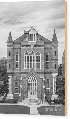 University Of Alabama Clark Hall Wood Print by University Icons