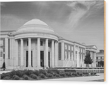 University Of Alabama Shelby Hall Wood Print by University Icons