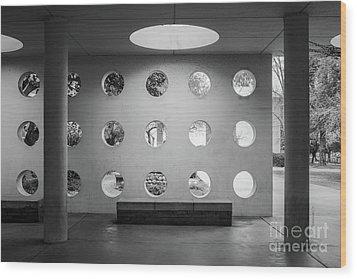 University Of California Riverside Watkins Hall Wood Print by University Icons