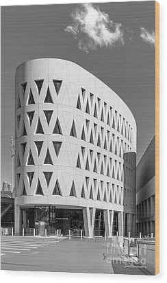 University Of Cincinnati Lindner Center Wood Print by University Icons