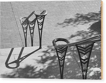 University Of Cincinnati Railings Wood Print by University Icons