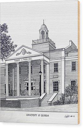 University Of Georgia Wood Print by Frederic Kohli