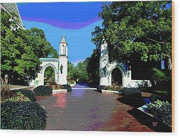 University Of Indiana Wood Print