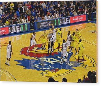 University Of Kansas Cole Aldrich Wood Print by Keith Stokes