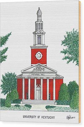 University Of Kentucky Wood Print by Frederic Kohli