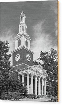 University Of Kentucky Memorial Hall Wood Print by University Icons