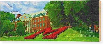 University Of Maryland  Wood Print