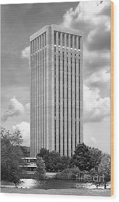 University Of Massachusetts W. E. B. Du Bois Library Wood Print by University Icons