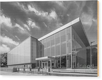 University Of Michigan Arthur Miller Theater Wood Print by University Icons