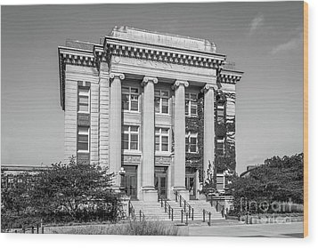 University Of Minnesota Johnston Hall Wood Print by University Icons