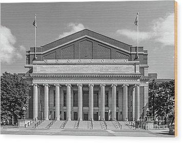 University Of Minnesota Northrop Auditorium Wood Print by University Icons