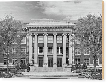 University Of Minnesota Smith Hall Wood Print