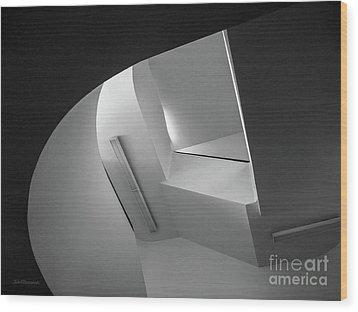 University Of Minnesota Stairwell Wood Print
