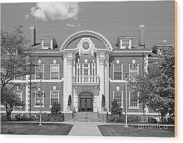 University Of New Haven Maxcy Hall Wood Print by University Icons