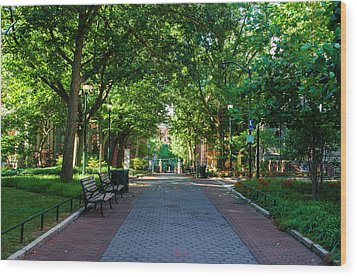 Wood Print featuring the photograph University Of Pennsylvania Campus - Philadelphia by Bill Cannon