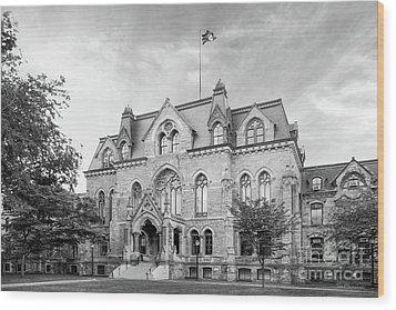 University Of Pennsylvania College Hall Wood Print by University Icons