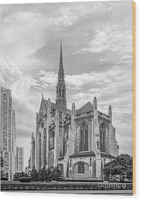 University Of Pittsburgh Heinz Memorial Chapel Wood Print by University Icons