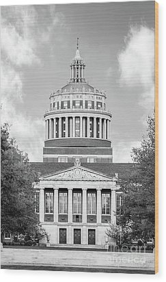 University Of Rochester Rush Rhees Library Wood Print by University Icons