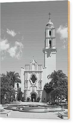 University Of San Diego The Church Of The Immaculata Wood Print by University Icons