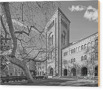 University Of Southern California Administration Building Wood Print by University Icons