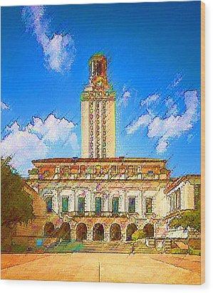 University Of Texas Wood Print