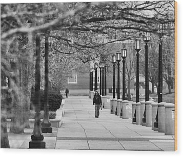 University Walk Wood Print by Coby Cooper