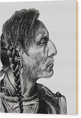 Unknown Indian II Wood Print by Stan Hamilton