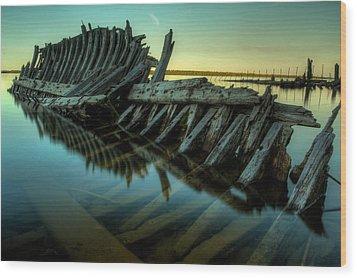 Unknown Shipwreck Wood Print by Jakub Sisak