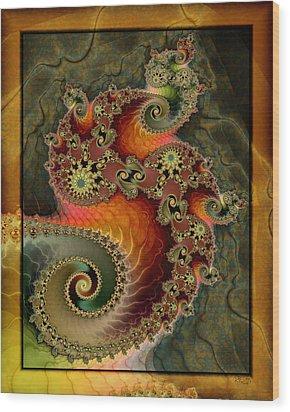 Unleashed Dragon Wood Print by Kim Redd