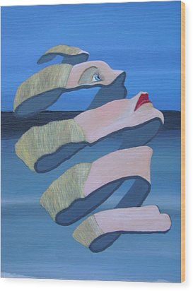 Unravelling 3 Wood Print by Eric Kempson