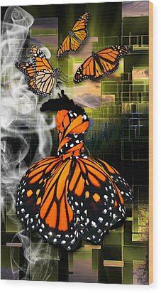 Wood Print featuring the mixed media Unrestricted by Marvin Blaine