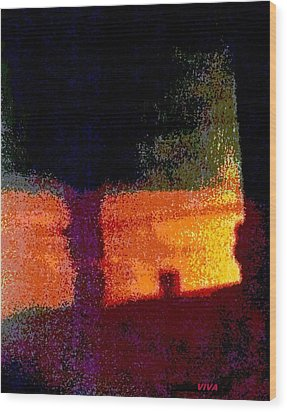 Untitled 1 - By The Window Wood Print by VIVA Anderson
