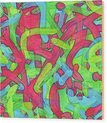 Untitled -b- Soup Wood Print by Coded Images