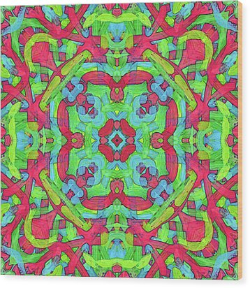 Untitled -b- Soup -pattern- Wood Print by Coded Images